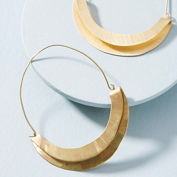 Anthropologie Striped Demi-Hoop Earrings